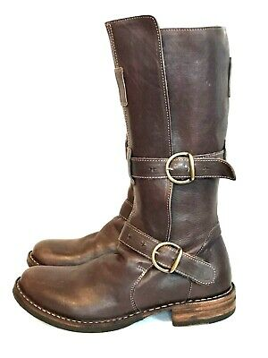 FIORENTINI & BAKER Eternity Boot 8 Riding Moto Brown Leather Free Shipping