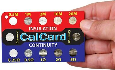 CalCard Calibration Resistance Card approved by NICEIC, IET, NAPIT, ECA, ELECSA