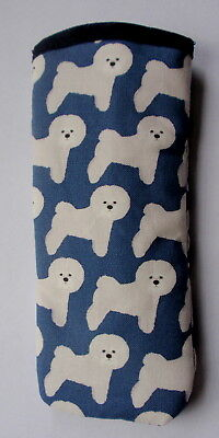 BICHON FRISE ALL OVER  - GLASSES CASE - cotton- ideal small gift