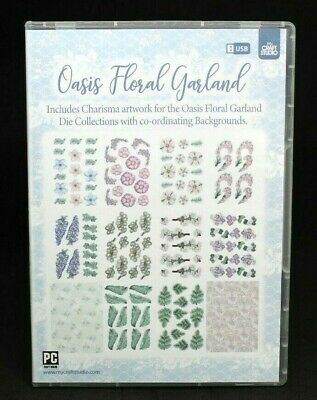 Tattered Lace My Craft Studio USB - Oasis Floral Garland Brand New Free P&P