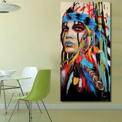 50*100cm Painting Unframed Indian Woman Canvas Painting For Wall New Durable