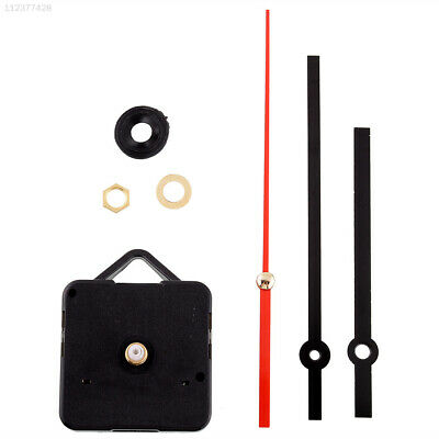 Silent Vintage Retro Quartz Clock Movement Black+Red Hands Mechanism Parts Kit