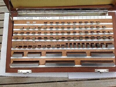 """Metric 88 Piece Slip Gauge Set 1.0005"""" to 100mm Great Condition,Lathe cnc mill"""