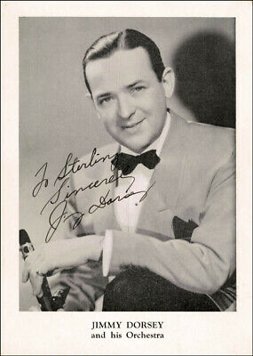 Jimmy Dorsey - Autographed Inscribed Photograph