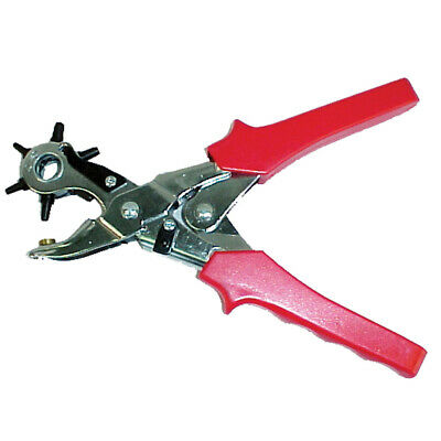 New Partrade Red Revolving Leather Punch 7 Inch