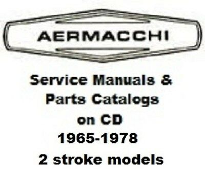 30+ AMF AERMACCHI Harley 2 stroke service manuals & parts catalogs 1965 -  1978