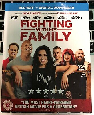 Fighting With My Family Blu Ray + Digital Download New And Factory Sealed