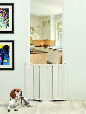 Retractable Safety Gate Door Guard Barrier Stairgate Automatic Folding Pets Baby