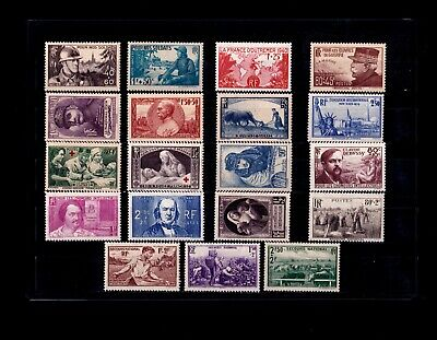FRANCE ** ANNEE COMPLETE 1940 / n° 451/69 / MNH / TTBE
