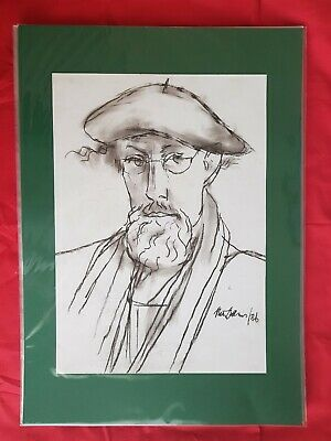 Peter Collins ARCA Signed Self Portrait c.1986