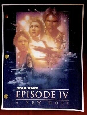 Star Wars Episode Iii Revenge Of The Sith Lucasfilm Rare Screenplay Script 25 49 Picclick