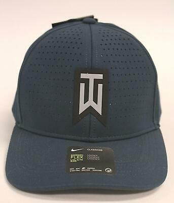 3fac16e06 UNISEX NIKE TIGER Woods Legacy91 Tour Mesh Golf Hat Fitted Cap M/l ...