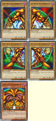 All Legal 5 CARD SET EXODIA THE FORBIDDEN ONE UNLIMITED MINT LDK2 YUGIOH