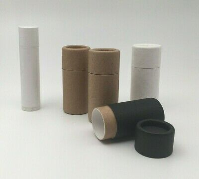 50 1/4 oz Short Cardboard Lip Balm Tube / Eco Friendly Paper Cosmetic Container
