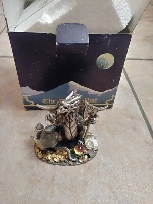 MYTH & MAGIC THE NEST OF DRAGONS Pewter w/Crystals Figurine