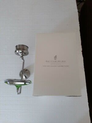 Pottery Barn Wall Mounted Soap Cup Dish Candle Holder NEW WITH HARDWARE