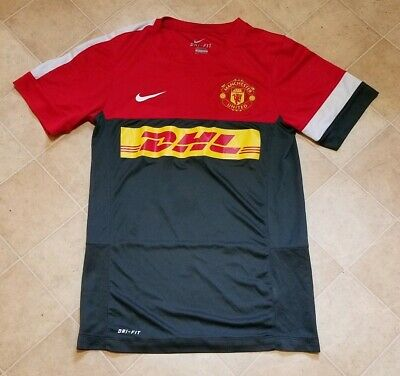 big sale 820cd 0e59a MANCHESTER UNITED NIKE Dri-Fit Soccer Jersey DHL Size Small - lightly worn