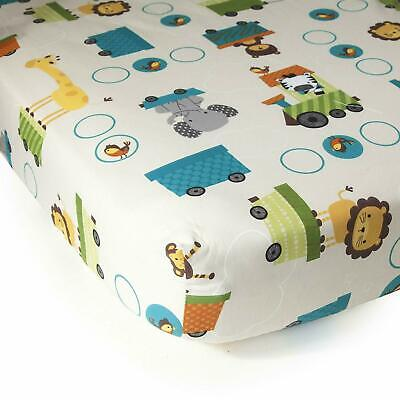 Bedtime Originals Crib Fitted Sheet, Color: Choo Choo,55% Cotton / 45% Polyester