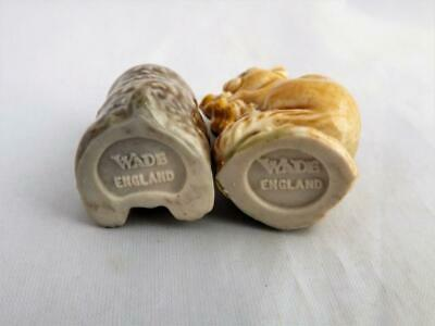 Wade Whimsie's X 2 With hard to find Embossed Backstamp's 1970's (Perfect)