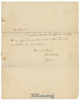 Daniel Webster - Autograph Letter Signed 02/06/1824