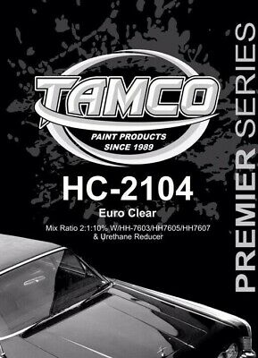 HC2104 EURO CLEAR COAT - QUART KIT 2:1  54% solids