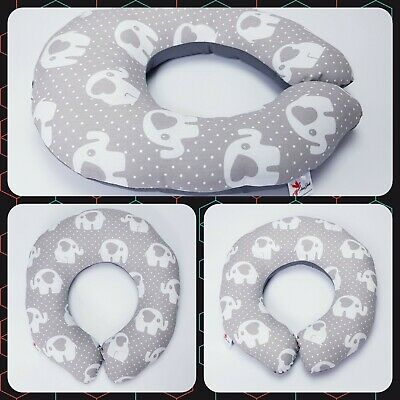 Breast feeding small pillow maternity pillow Baby support 40cm grey elephant