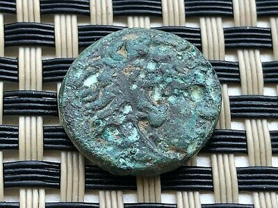 Alexander Iii The Great 336-323 Bc Ae19 Herakles-Bow Ancient Greek Bronze Coin