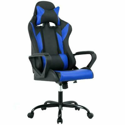 High-Back Gaming Chair Pc Office Chair Computer Racing Chair Pu Desk Task Chair