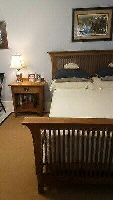 MISSION STICKLEY FULL /DOUBLE Sz. Bed Frame w/ NIGHT STAND-Arts and Crafts Style