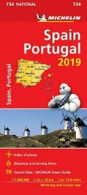 Spain & Portugal 2019 - Michelin National Map 734 Map 9782067236677   Brand