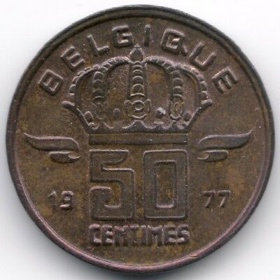 Belgium : 50 Centimes 1977 French Legend - Small Head