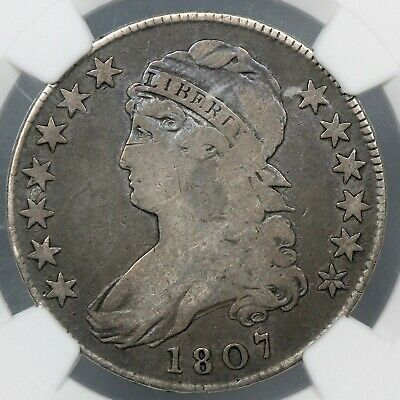 BETTER DATE NGC VG10 1807 CAPPED BUST SILVER HALF DOLLAR 50c   (BC11)