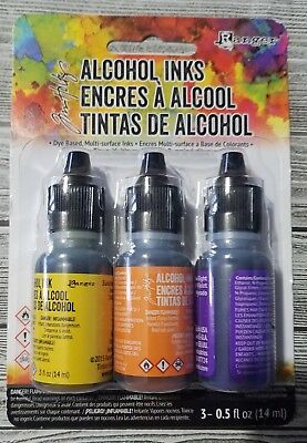 ADIRONDACK Tim Holtz Ranger Alcohol Inks SUMMIT VIEW TAK25986 SV - 3 pack