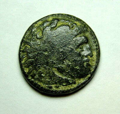 Alexander the Great Bronze coin Lifetime coin. Ancient Greek coin. Heracles Club