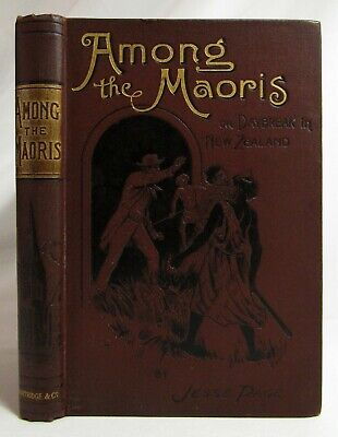 Antique 1800's AMONG THE MAORIS New Zealand Maori ANTHROPOLOGY Exploration PAGE
