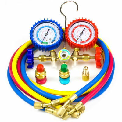 R134A R12 R22 R502 A/C Diagnostic Manifold Gauge HVAC Refrigeration Charging 5FT