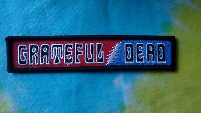 Grateful Dead Red, White & Blue Lightning Bolt 1 x 5 Inch Iron On Patch