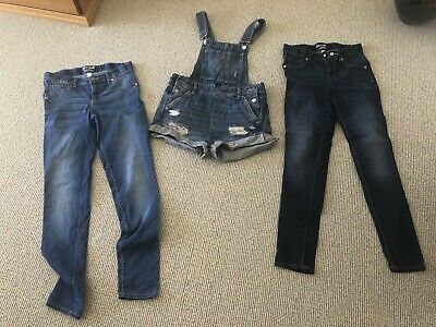 Girls Jeans Size 14 X 2 + Overall Shorts, Size EUR 34 Bundle