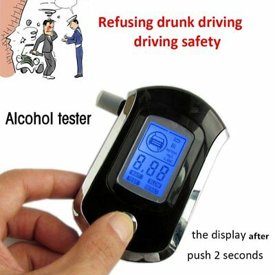 Portable Digital Alcohol Breathalyser Breath Tester Breathtester Blue LCD Hot JP