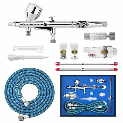 Modern Dual Action 3 Airbrush Kit for Air Compressor Craft Paint Art Spray Gun