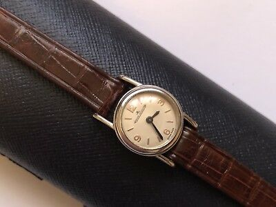 jaeger lecoultre backwind stainless steel swiss made ladies wristwatch