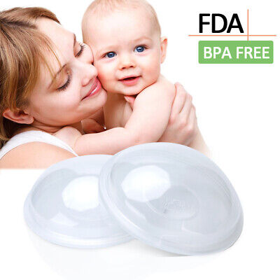 2x Milk Saver Breast Shells Nursing Cups Pads Washable Collector Cather BPA Free