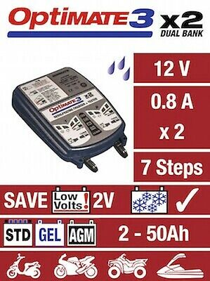 Optimate 3 Double Moto 12V Chargeur Optimiseur SAE Version Ru Neuf