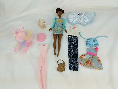 Barbie Doll Dress Clothes Lot Fancy blue & pink dress theme!! And 1 Barbie doll!