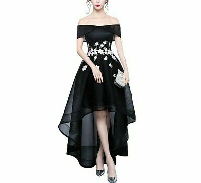 Hi-low Evening Party Dress For Ladies Prom Home Coming Formal Off Shoulder Gowns