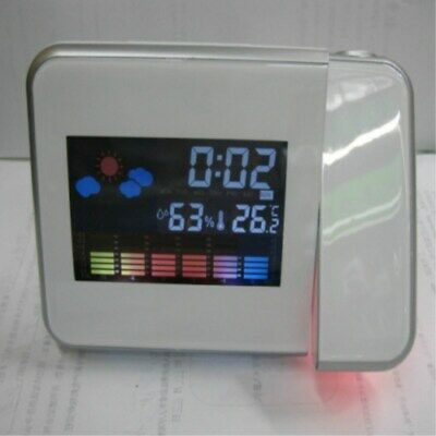 LED Backlight Digital Weather LCD Projection Snooze Color Display Alarm Clock US