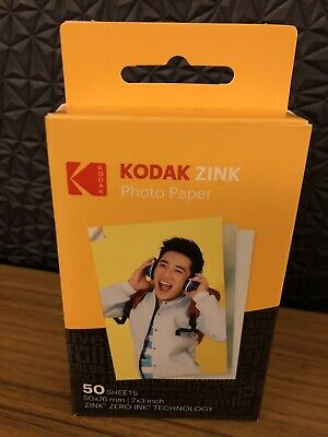 Kodak Mini 2x3 Stickers ZINK Photo Printer Paper/Ink 50 Sheets NEW Printomatic