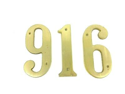 3 Vintage Old World Italian Solid Brass House Numbers Address 661 or 991 5 1/2""