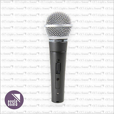 Shure SM58S Vocal Dynamic Microphone with On/Off Switch
