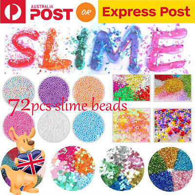 Glue 72Pcs Kit Slime Supplies Slime Accessories Beads Charms Children DIY Tools